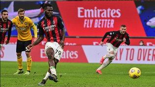 Il Milan frena, con l'Udinese pari in extremis con un rigore di Kessie al 97'