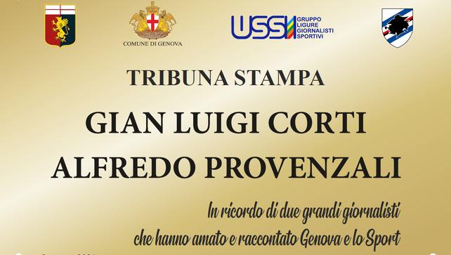 Intitolata a Corti e Provenzali la Tribuna Stampa dello Stadio Ferraris