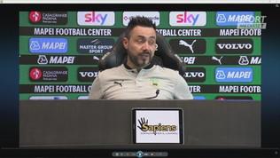 """De Zerbi: """"Con l'Udinese dovremo inventarci qualcosa"""""""