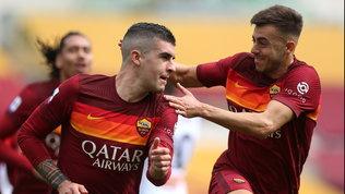 Mancini ci mette la testa, la Roma regola il Genoa e torna in zona Champions