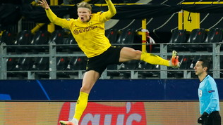 Haaland raggiunge20 gol in Champions in sole 14 partite: record