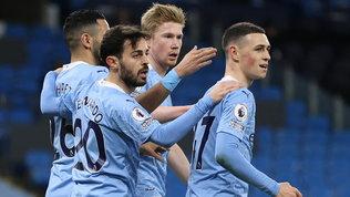 Premier League: manita al Southampton, il City vola a +14 con Mahrez e De Bruyne