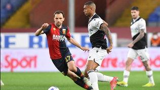 De Paul e il palo frenano il Genoa: con l'Udinese finisce pari