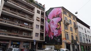 I murales floreali che diventano mangia-smog
