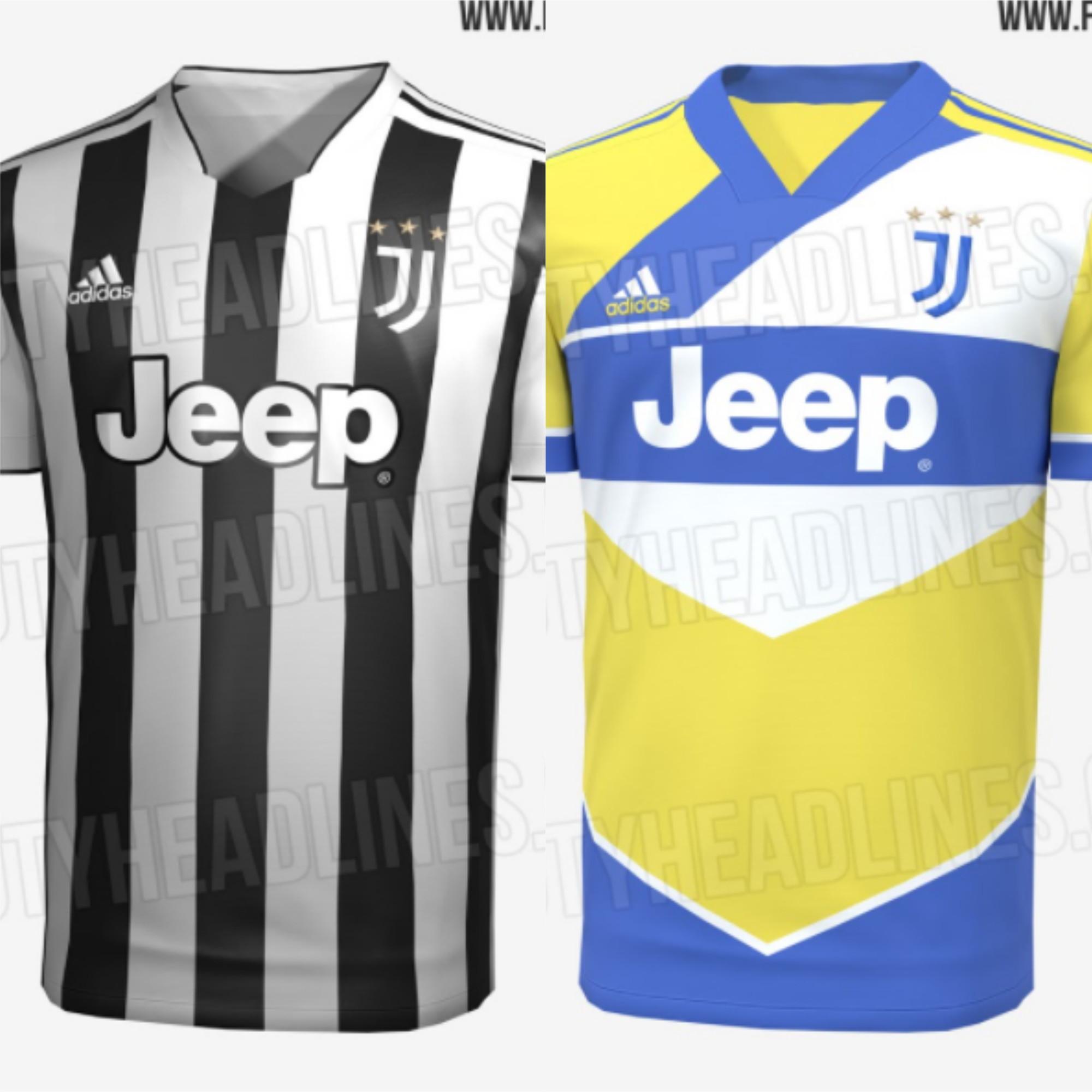 FootyHeadlines&nbsp;ha svelato le immagini della prima e della terza maglia della Juventus per la prossima stagione, la 2021/22. Se la prima divisa gioca sul classico bianconero, la particolarit&agrave; star&agrave; in un dettaglio che ricorder&agrave; il decimo anniversario dello Stadium: una patch con la grafica &quot;10 years at home&quot;, dieci anni a casa. Decisamente pi&ugrave; innovativa la terza maglia con il giallo (denominato shock) e il blu a farla da padrone assieme al bianco, uniti da uno stile geometrico.<br /><br />