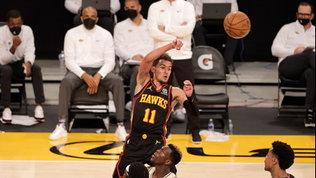 Nba: Gallinari decisivo contro i Lakers, che perdono per infortunio LeBron