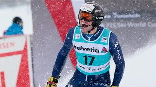 Feller si aggiudica l'ultimo slalom, Vinatzer 4°. Coppa a Schwarz