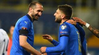 L'Italia di Mancini perde pezzi: Chiellini, Berardi e Caputotornano a casa
