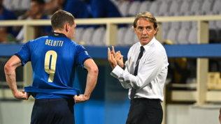 Mancini ne cambia cinque contro la Bulgaria: Barella dal 1', Belotti e Chiesa in avanti