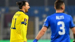 Ibrahimovictornerà solo giovedì in Italia. Ma l'assist di tacco è virale