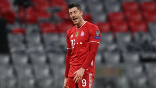 Bayern, Lewandowski out un mese: niente doppia sfida col Psg