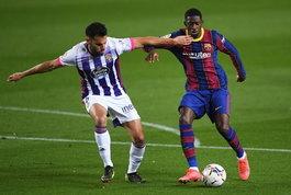 Liga:Dembelé manda in orbita il Barcellona al 90', -1 dall'Atletico con vista Clasico