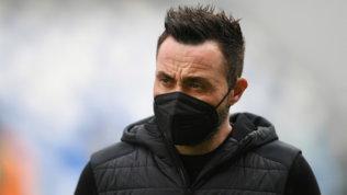 """De Zerbi: """"La linea non cambia: i nazionalifuori contro l'Inter"""""""