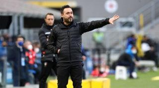 """Furia De Zerbi: """"Su Raspadoririgore netto, l'arbitro Irrati non mi piace"""""""