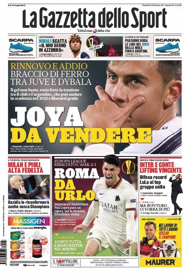 Le prime pagine, e non solo dei quotidiani italiani ed esteri in edicola oggi<br /><br />