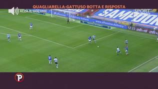 Gattuso-Quagliarella: battibecco in campo