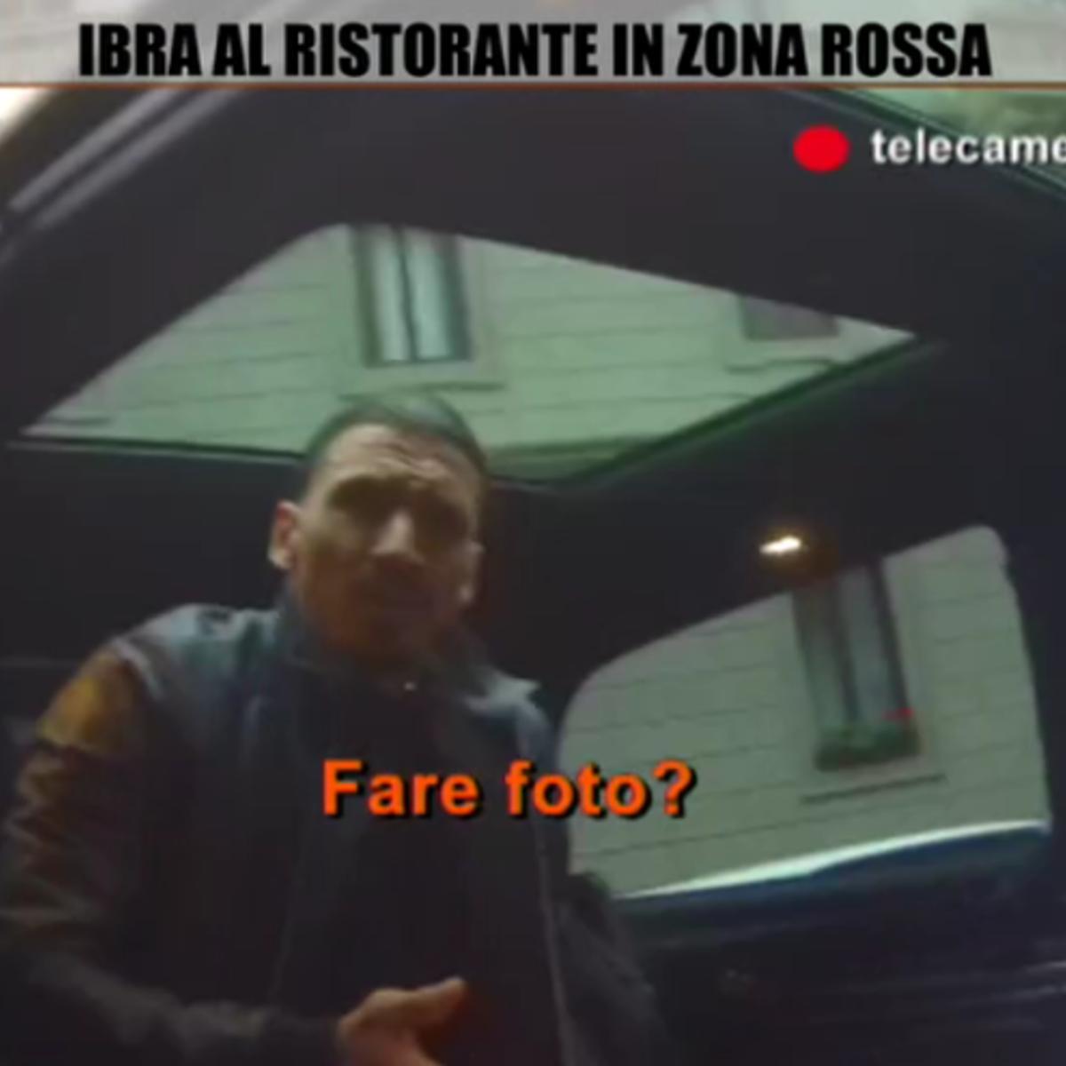 """Ibra al ristorante, videoesclusivo: """"Grande meeting, non ho pranzato"""""""