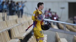 Messi super, al Barça la Coppa del Re: la festa col trofeo
