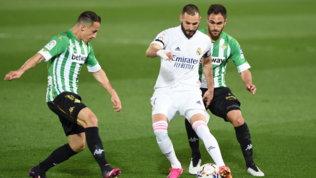 Il Betis frena il Real, Zidane fallisce l'aggancio all'Atletico