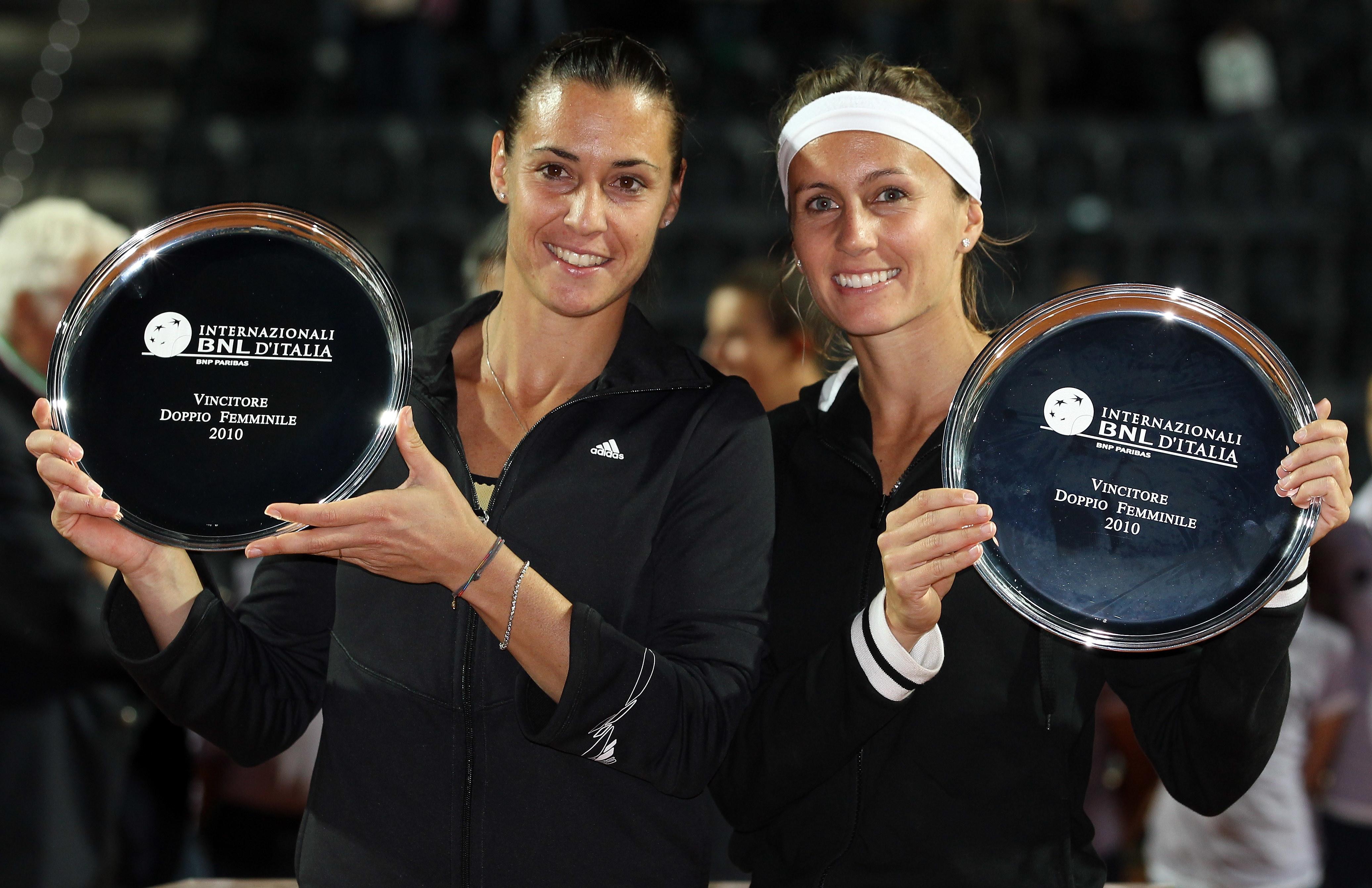 Nel 2010 ecco anche un po' di azzurro: Flavia Pennetta, in coppia con l'argentina Gisela Dulko, ha vinto il titolo di doppio.