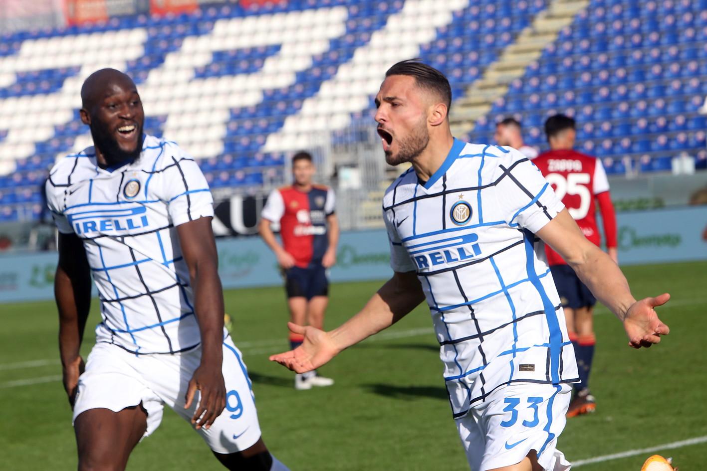 Cagliari-Inter 1-3, 13 dicembre: gol di Barella, D'Ambrosio e Lukaku