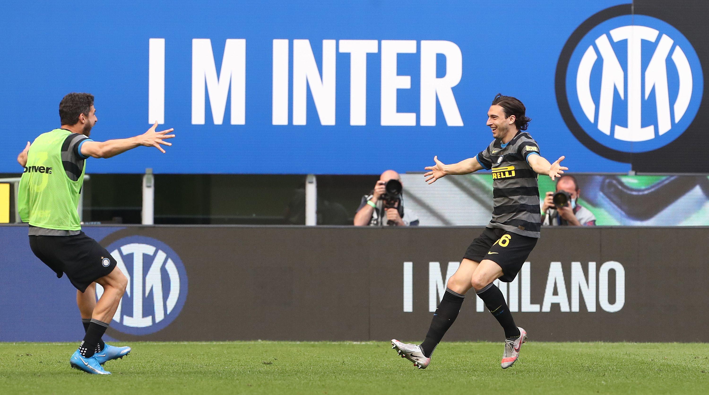 Inter-Verona 1-0, 25 aprile: gol di Darmian, com'era avvenuto contro il Cagliari due settimane prima