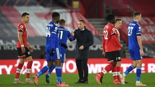 Leicester, occasione buttata: solo 1-1 col Southampton in 10 per 80'