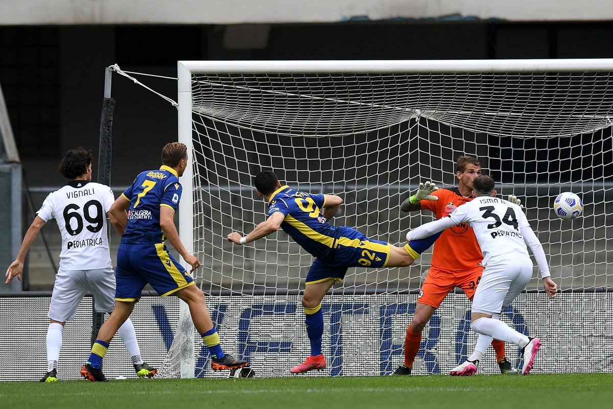 Le migliori immagini di Verona-Spezia 1-1, anticipo della 34a giornata di Serie A<br /><br />