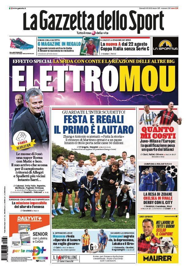 Le prime pagine, e non solo, dei quotidiani italiani ed esteri in edicola oggi&nbsp;<br /><br />