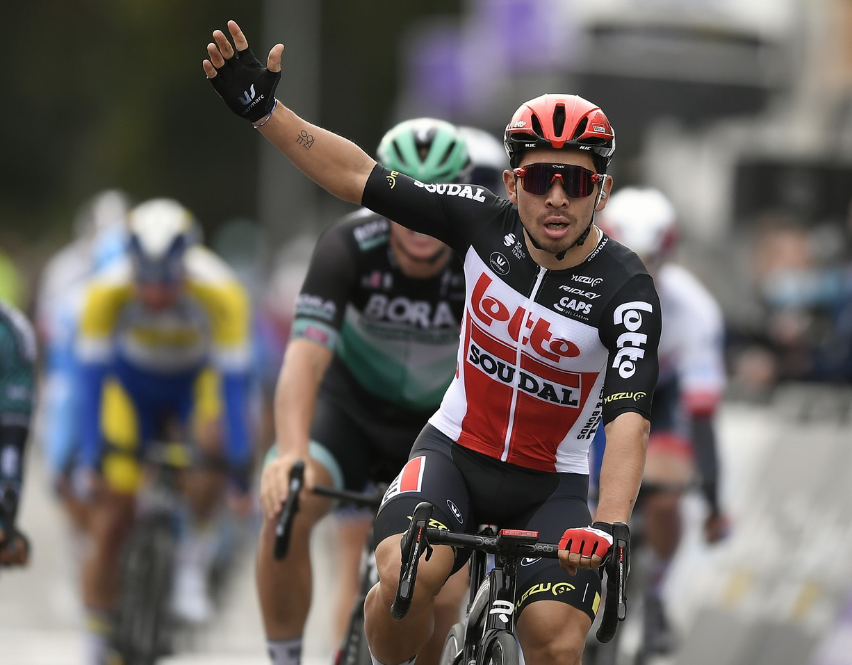 Lotto Soudal (BEL) con Caleb Ewan,già tre successi di tappa al Giro al suo attivo, e Thomas De Gendt.