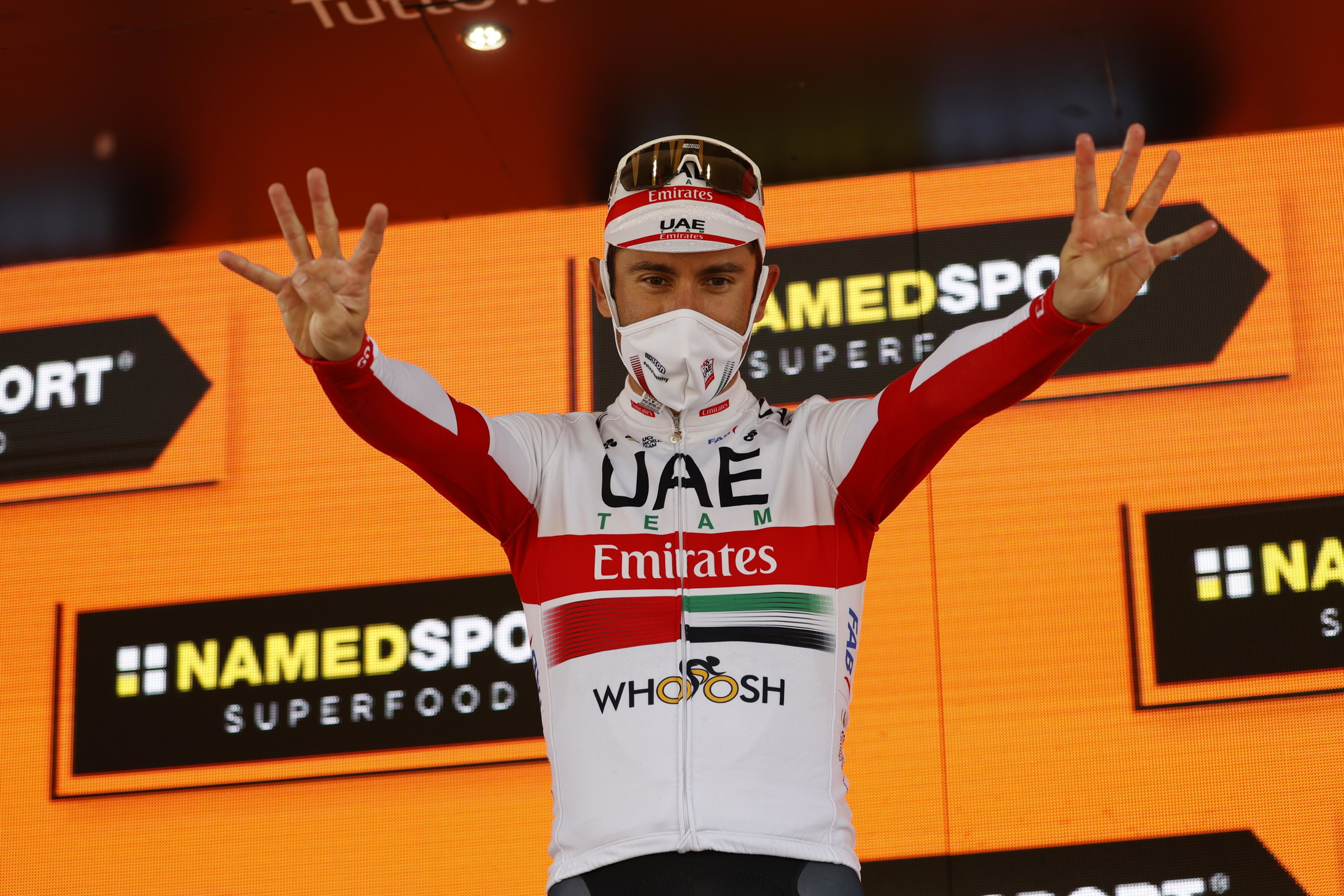 Il duo della UAE Team Emirates Davide Formolo e Diego Ulissi, 8 successi di tappa in carriera al Giro per quest'ultimo.