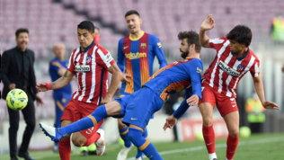 Simeone regge l'urto del Barça, il pareggio fa sorridere il Real