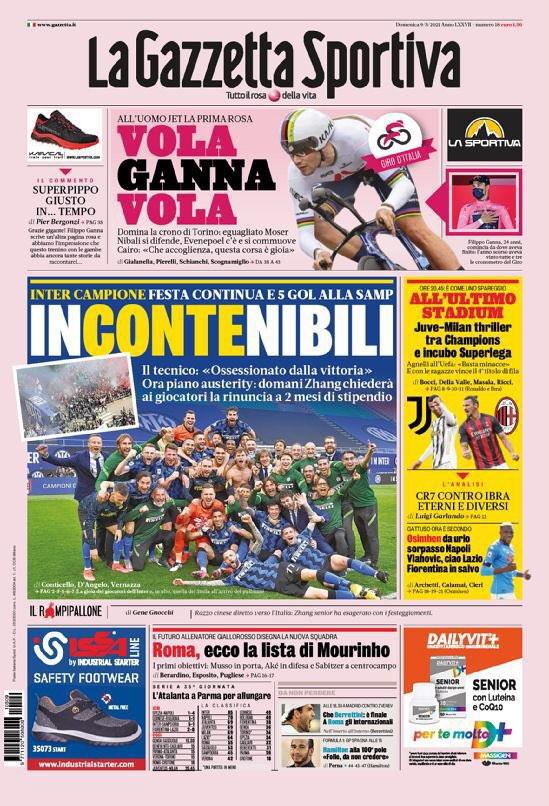 Lo sport sui giornali italiani ed esteri<br /><br />