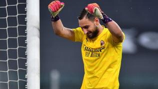 Donnarumma esulta dopo il tris alla Juve: futuro più rossonero