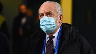 """De Laurentiis esulta su Twitter: """"100 gol! Grande squadra"""""""