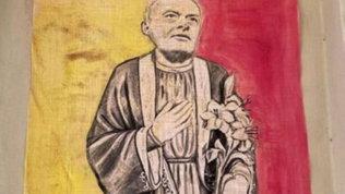 Roma, in città spunta una nuova opera per 'San José Mourinho