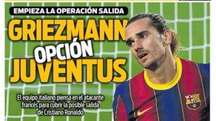 Juventus, stuzzica l'ipotesiGriezmann in caso di addio di CR7