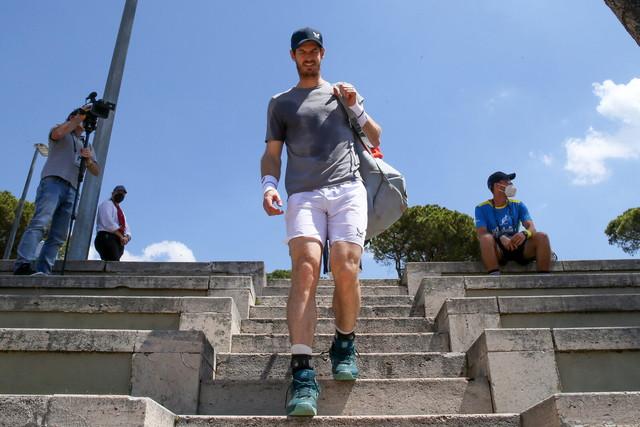 <p>Murray torna al Foro per allenarsi.</p>