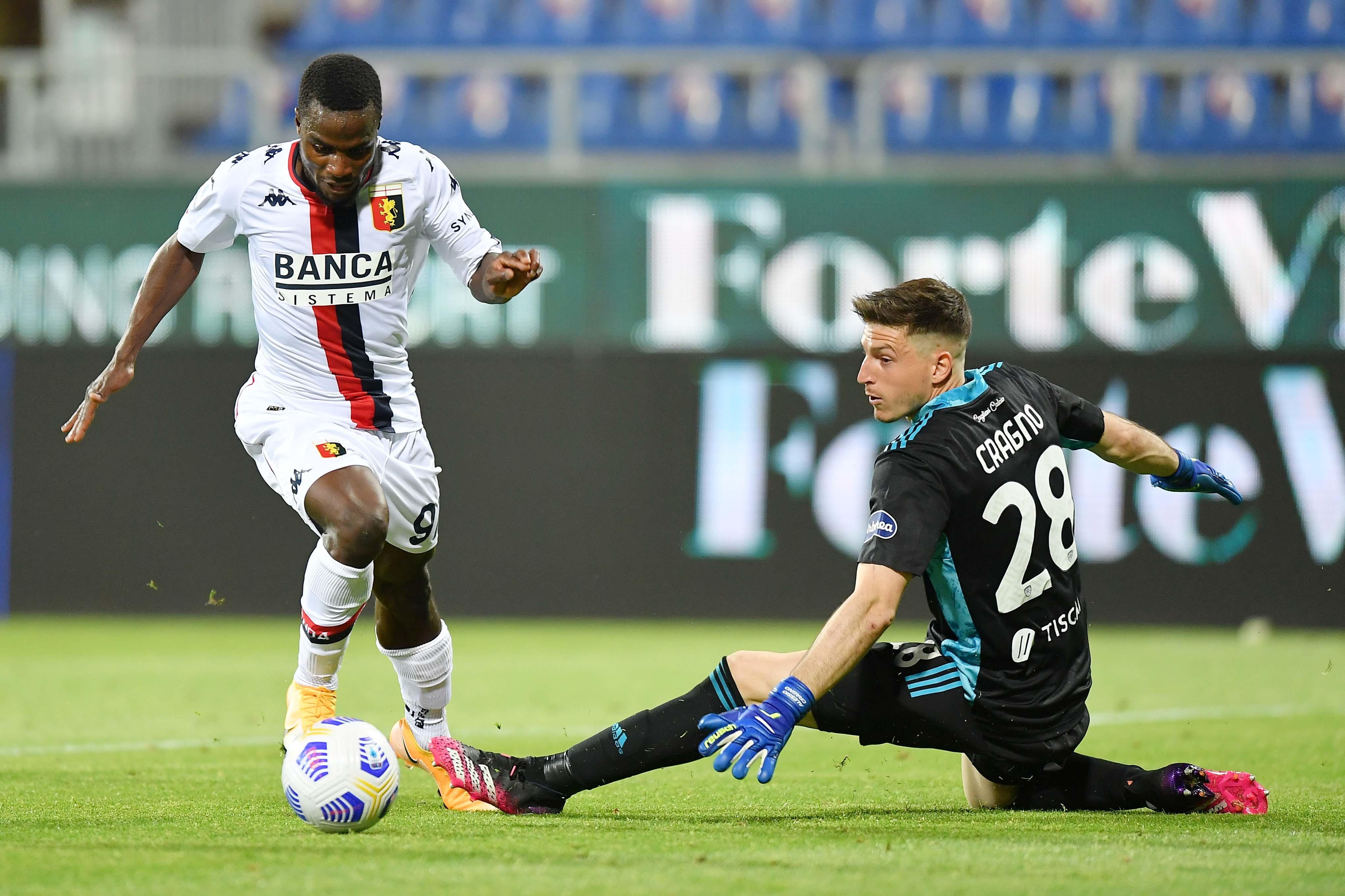 "Genoa, esordio con gol (annullato) per Kallon: ""Sono molto felice"" | News -  Sportmediaset"