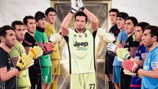 """Buffon al passo d'addio: """"Che viaggio!""""   La Juve lo celebra: """"Goatkeeper"""""""