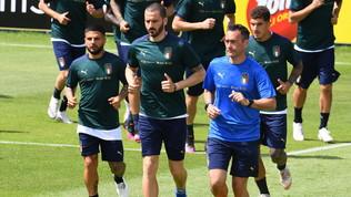Primo allenamento degli Azzurri: in gruppo anche Ferrari
