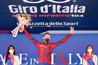 """<p>Daniel Martin ha vinto la tappa 17 del Giro d'Italia, la Canazei-Sega di Ala di 193 km. Egan Bernal è arrivato al traguardo dopo 1'23"""".</p>"""