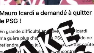 """PSG, Icardi: """"Milan e Juve? Fake news"""""""