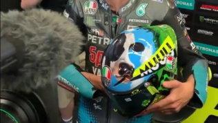 """Rossi, un casco che fa """"Muuu... gello"""""""