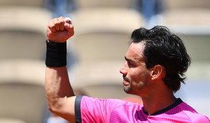 Roland Garros: Fognini avanza, Giannessi sfiora l'impresa. Cocciaretto out