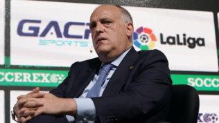 """Tebas: """"Vedo Juve, Real e Barçafuori dalla Champions, dovrebbero aver paura"""""""