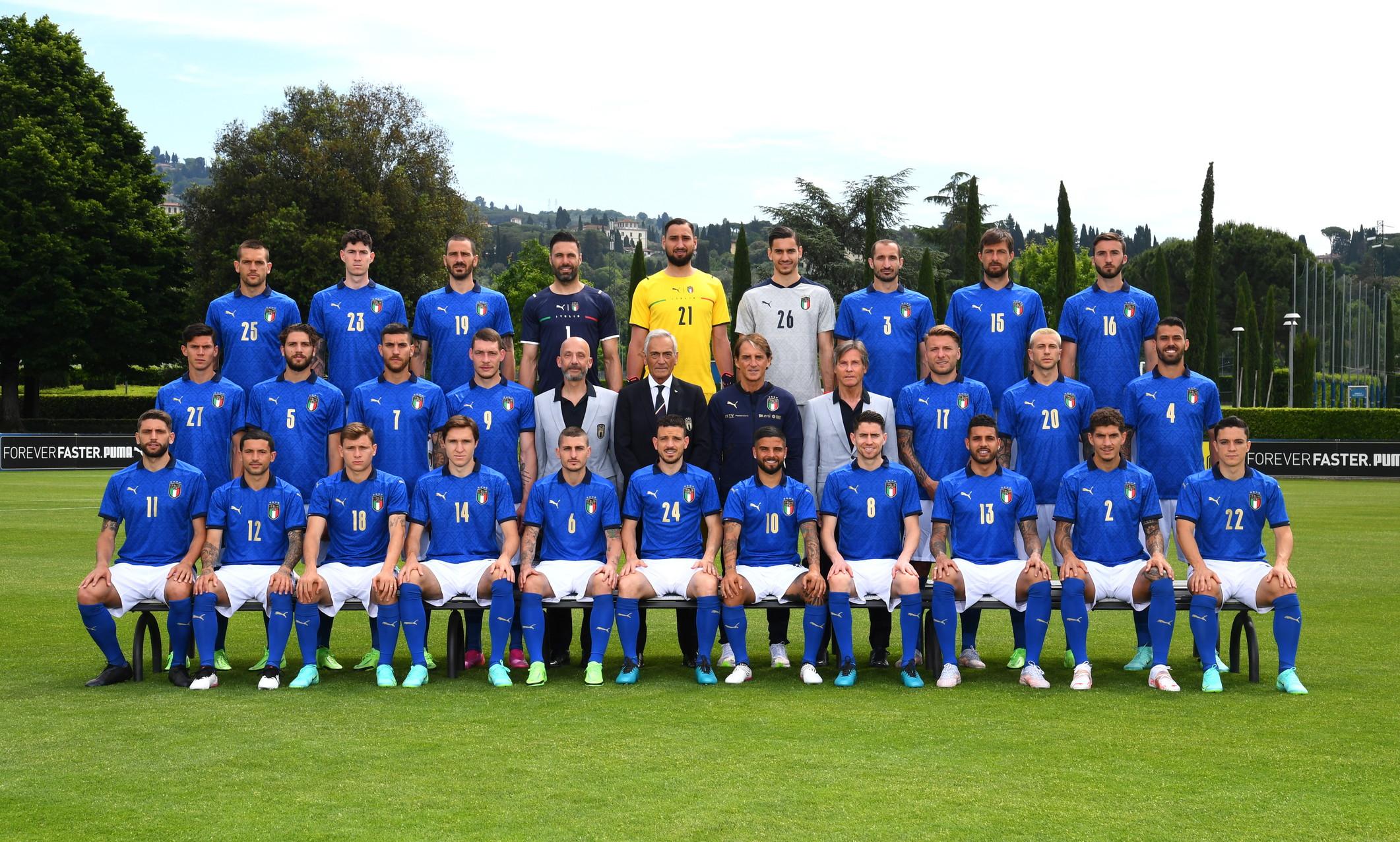 Euro 2020, la foto ufficiale della Nazionale italiana   Foto - Sportmediaset