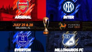 Inter, dal 25 al 28 luglio la Florida Cup con Arsenal ed Everton