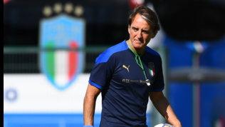 """Mancini: """"Formazione sarà indicativa.Raspadori? Spero sia il nostro Rossi"""""""