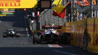 F1, le foto delle qualifiche del GP di Baku
